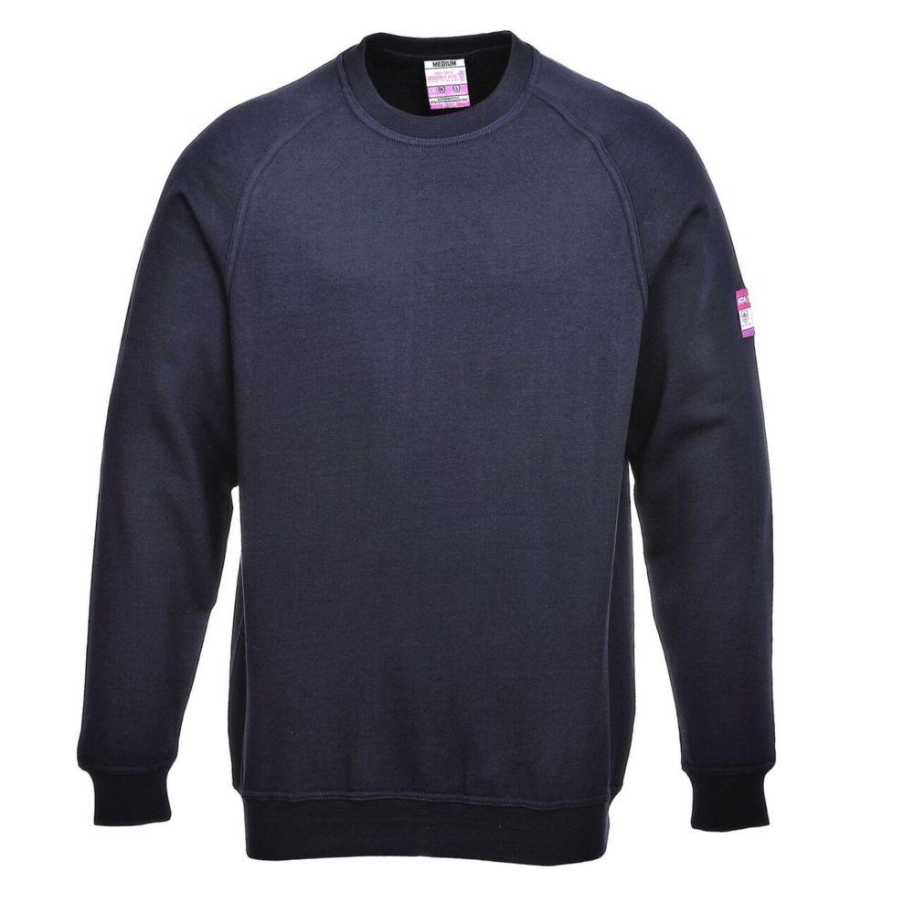Sweat Shirt Retardateur de flammes et Antistatique Portwest manches longues - Marine