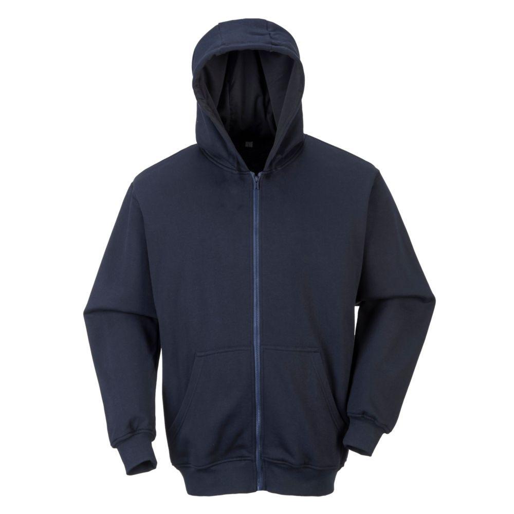 Sweat-shirt zippé à capuche Portwest modaflame anti-static - Marine
