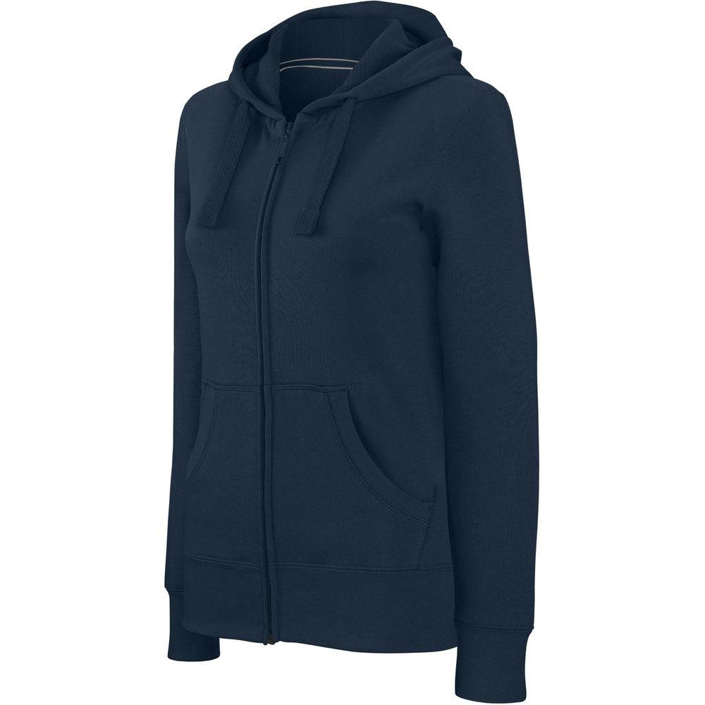 Sweat-shirt zippé capuche femme Kariban Marine
