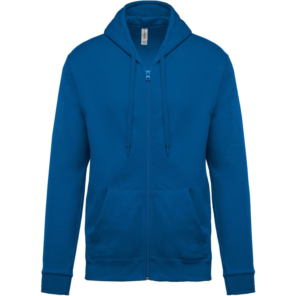 Sweat-shirt zippé capuche Kariban Bleu/Royal