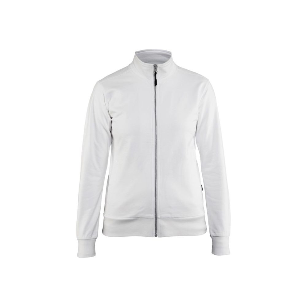 Sweat-shirt femme Blaklader zippé - Blanc