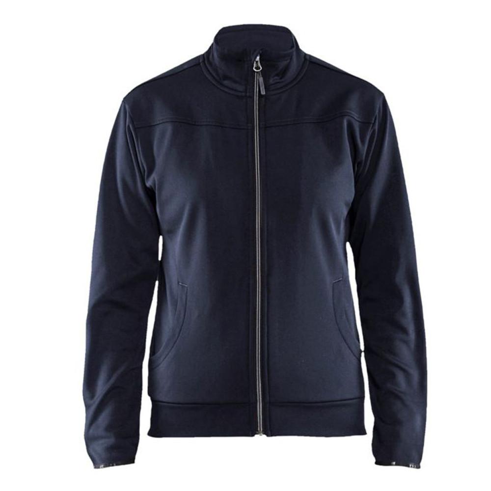 Sweat shirt zippé femme Blaklader - Marine Foncé / Noir