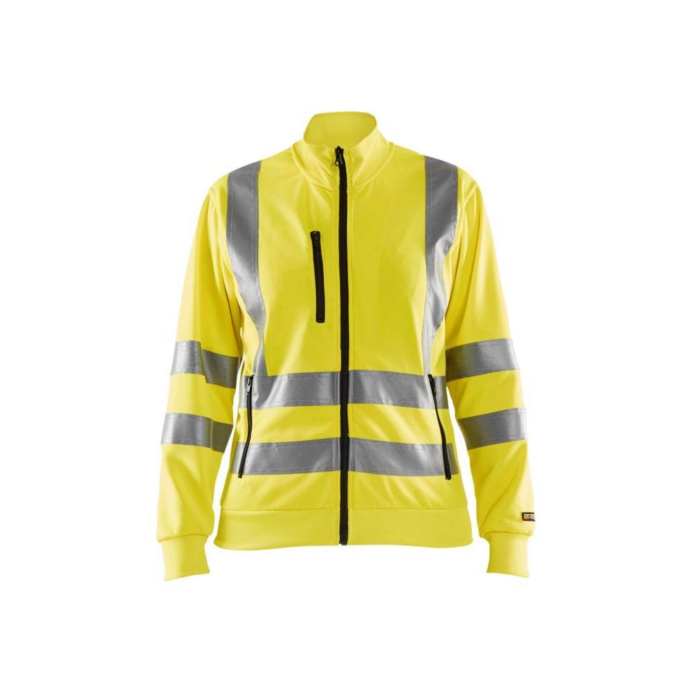 Sweat zippé haute visibilité femme Blaklader EN ISO 20471 CLASSE 3 - Jaune fluo