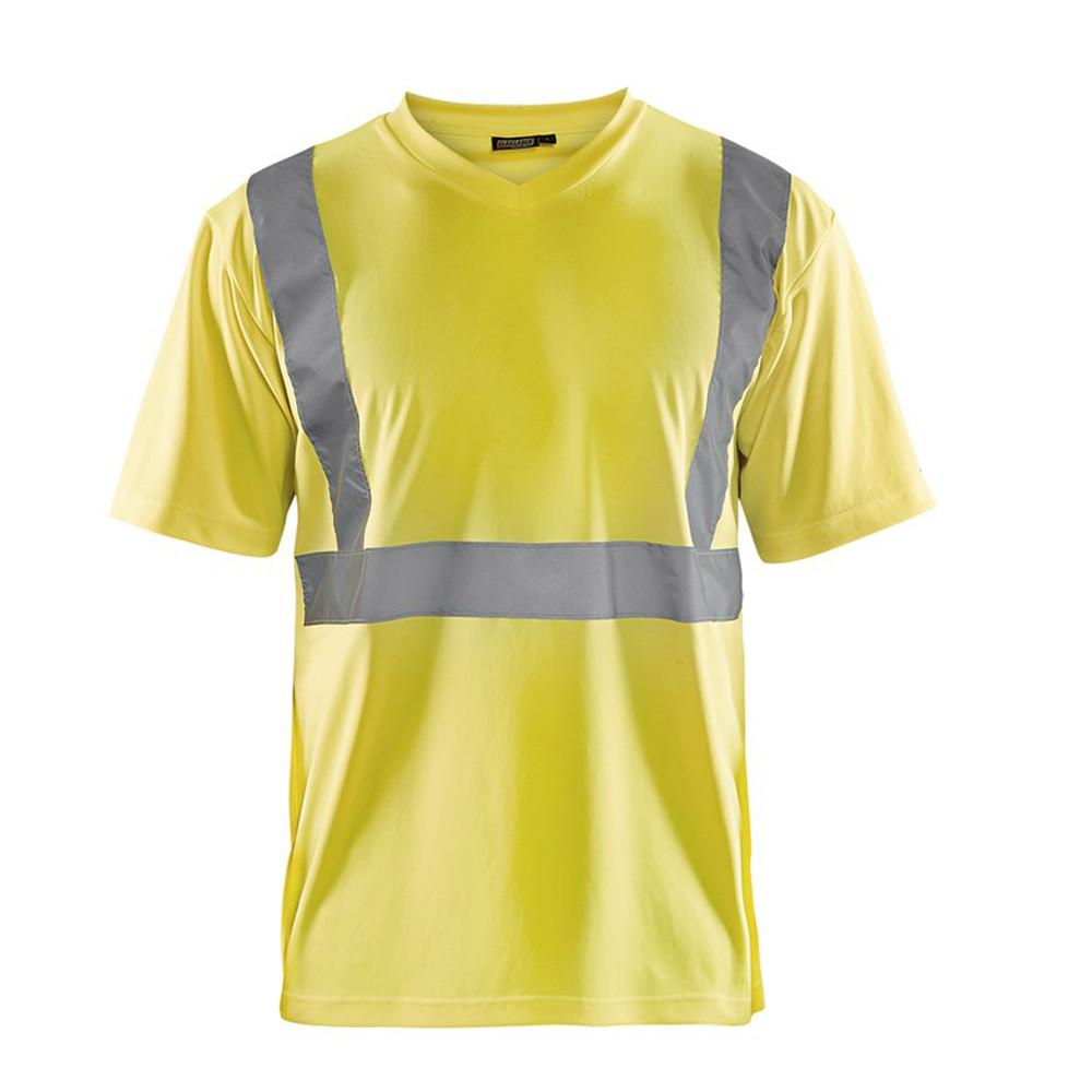 T-shirt haute visibilité Blaklader col v 100% polyester - Jaune
