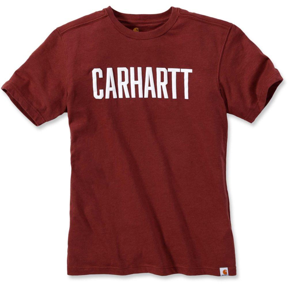 T-shirt de travail Carhartt LOGO BLOCK - Bordeaux