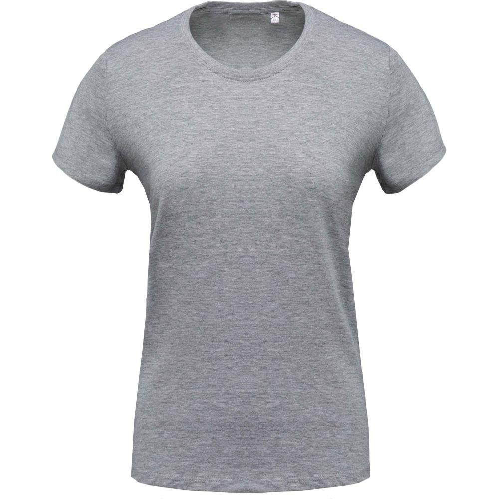 T-shirt de travail col rond manches courtes femme Kariban - Gris Clair