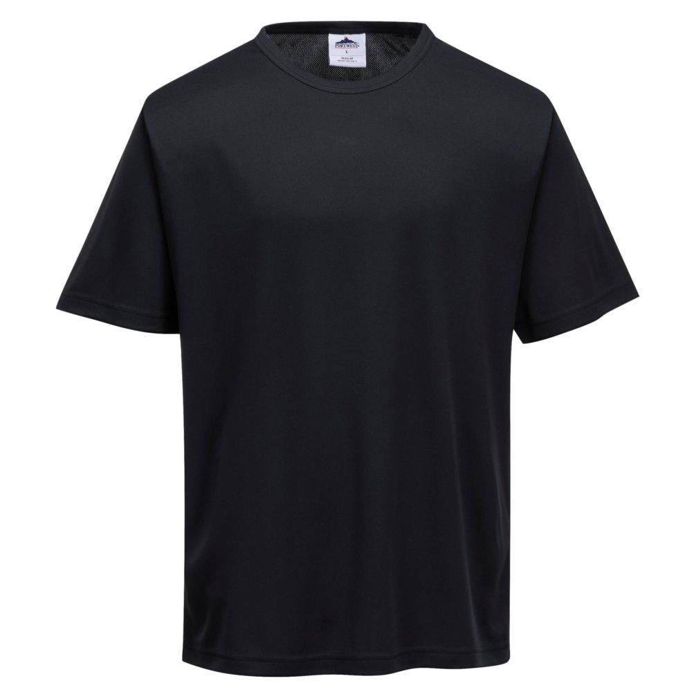 T-shirt de travail respirant Portwest MONZA - Noir