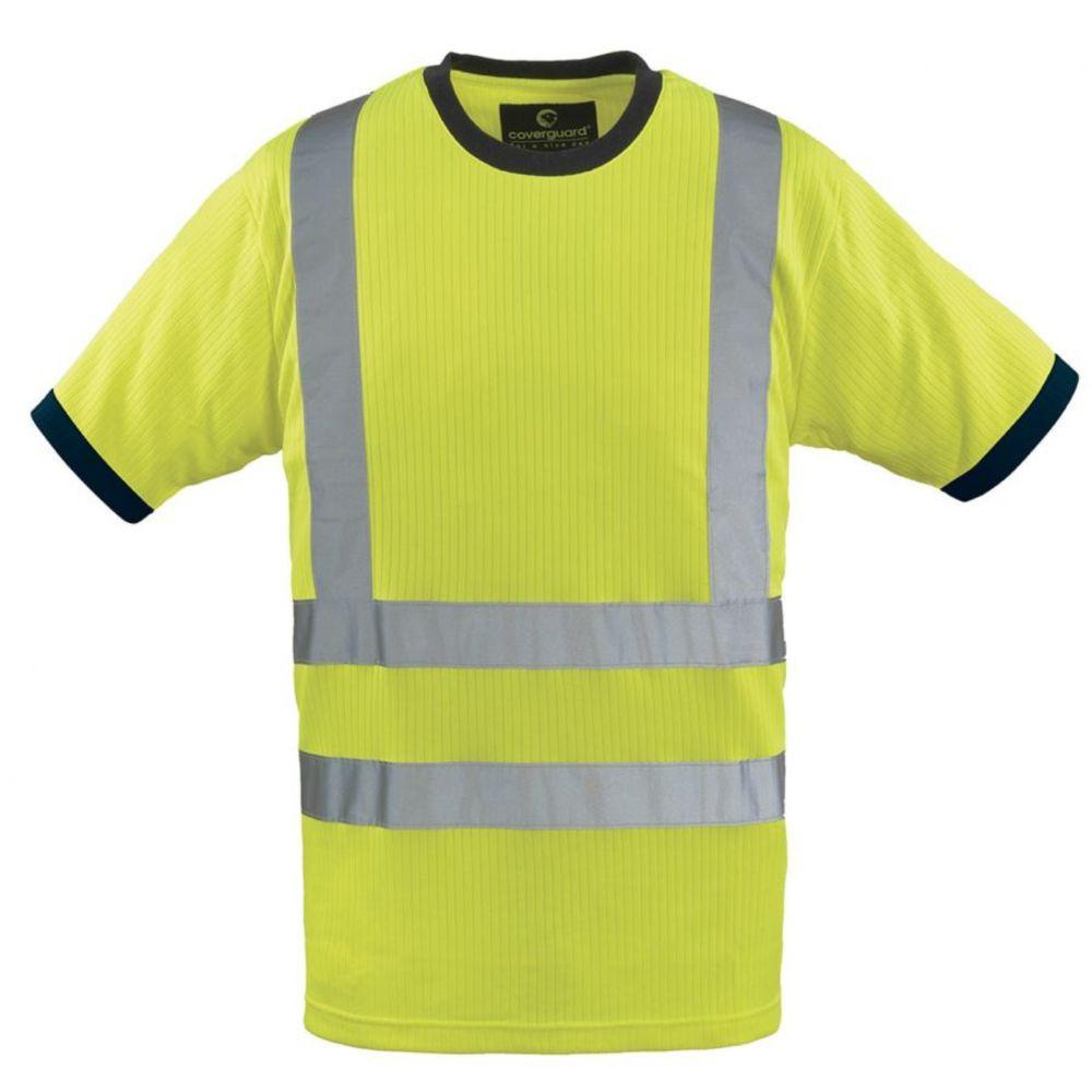 T-shirt haute visibilité Coverguard Yard Col rond - Jaune