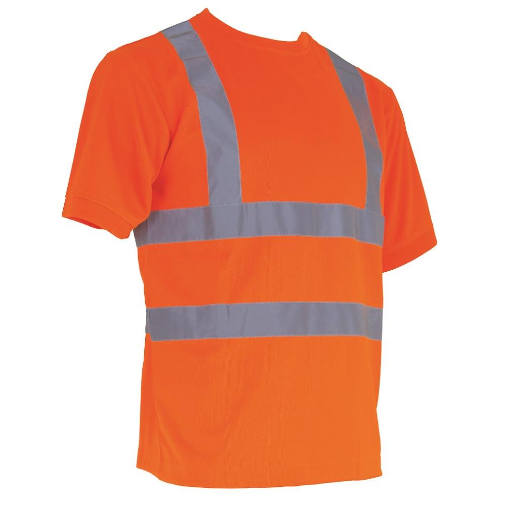 T-shirt haute visibilité manches courtes LMA LUMINEUX - Orange Fluo