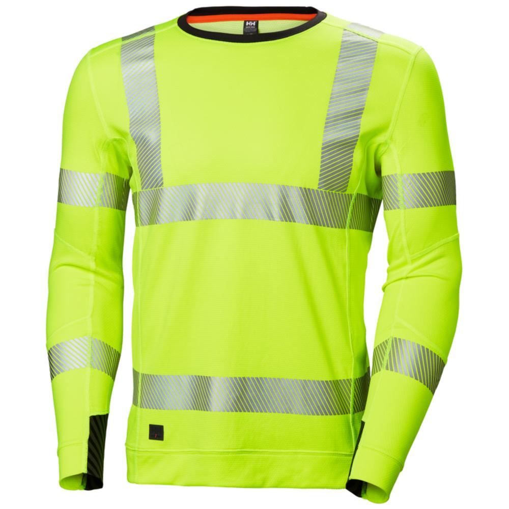 T-shirt haute visibilité manches longues Helly Hansen LIFA ACTIVE CREWNECK - Jaune