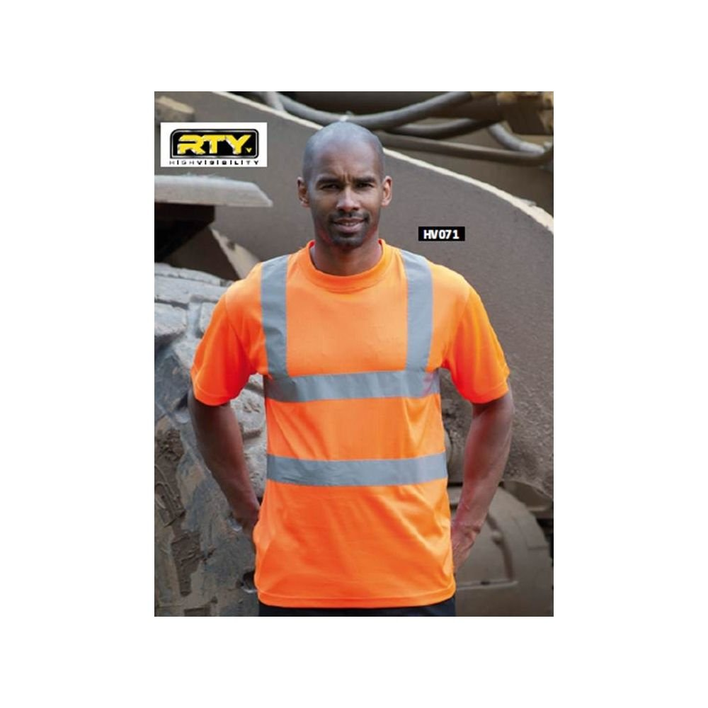 T-shirt haute  visibilité RTY approuvé EN471 - T-shirt haute visibilite RTY - Orange fluo