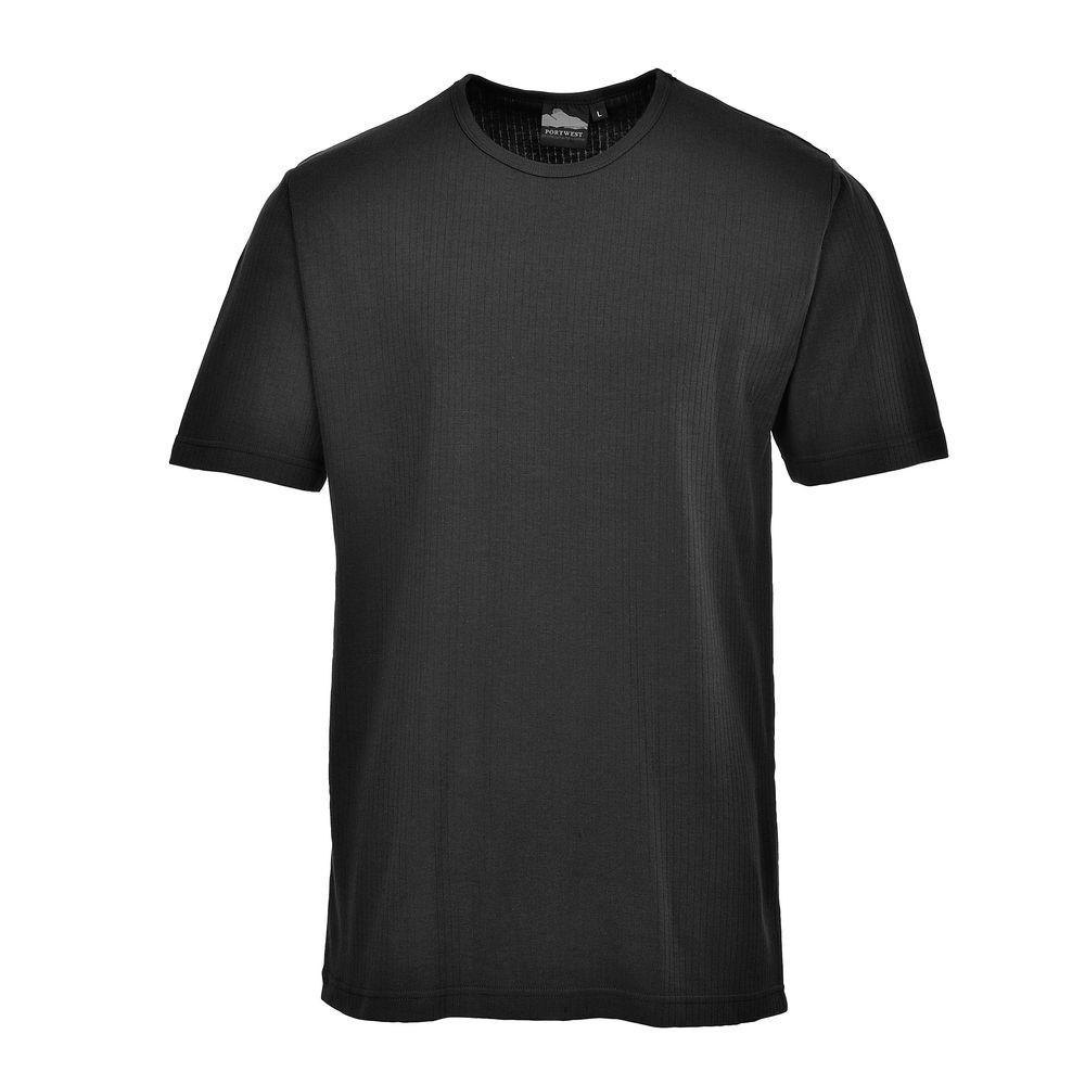 T-shirt Thermique Manches Courtes Portwest - Noir