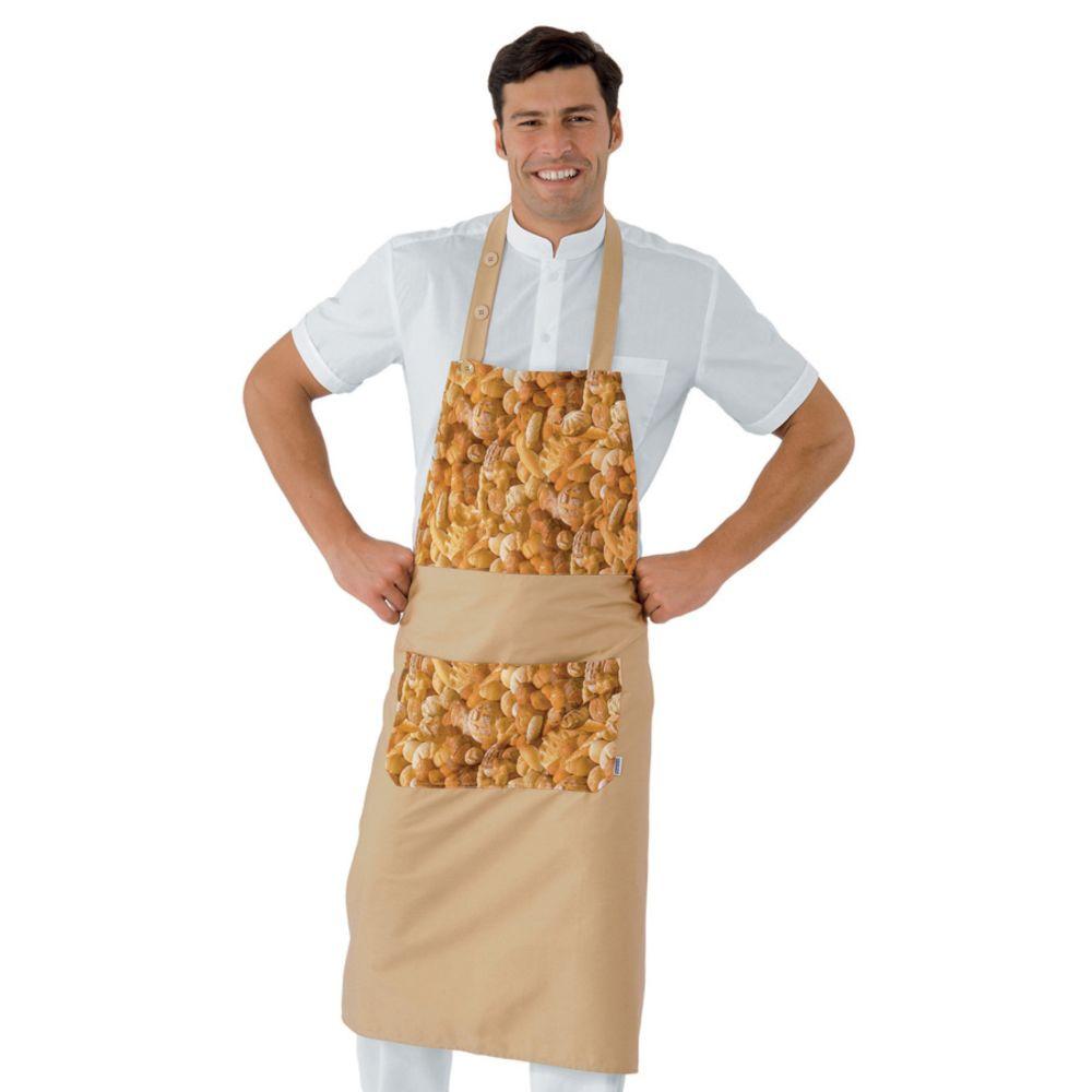 Tablier à bavette Boulanger Patissier Isacco Daytona Bread - Motif Pain