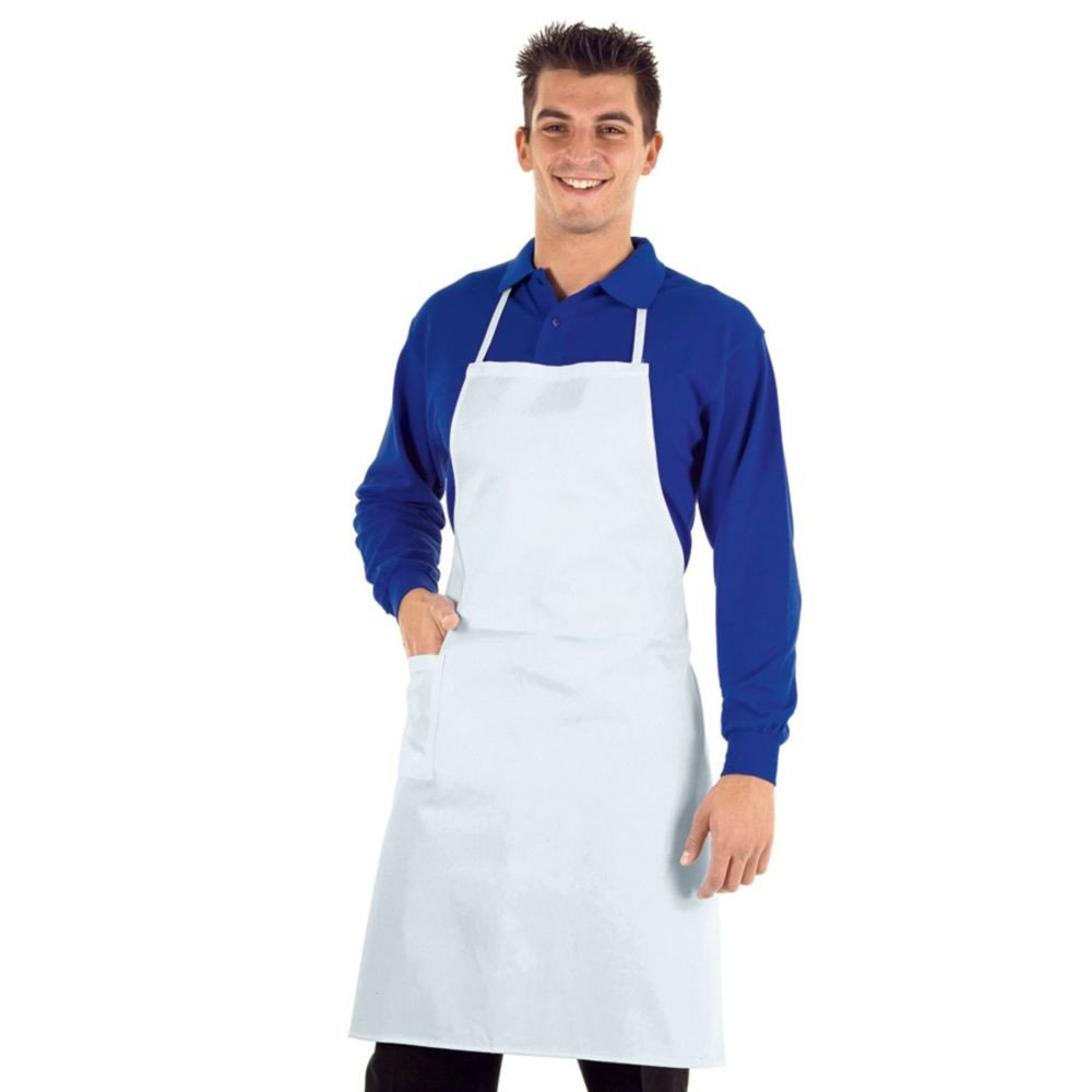 Tablier De Cuisine Professionnel Blanc Isacco 100 Coton