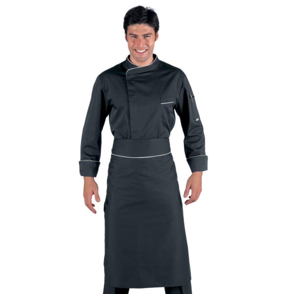 Tablier de cuisine sans poches Isacco - Noir
