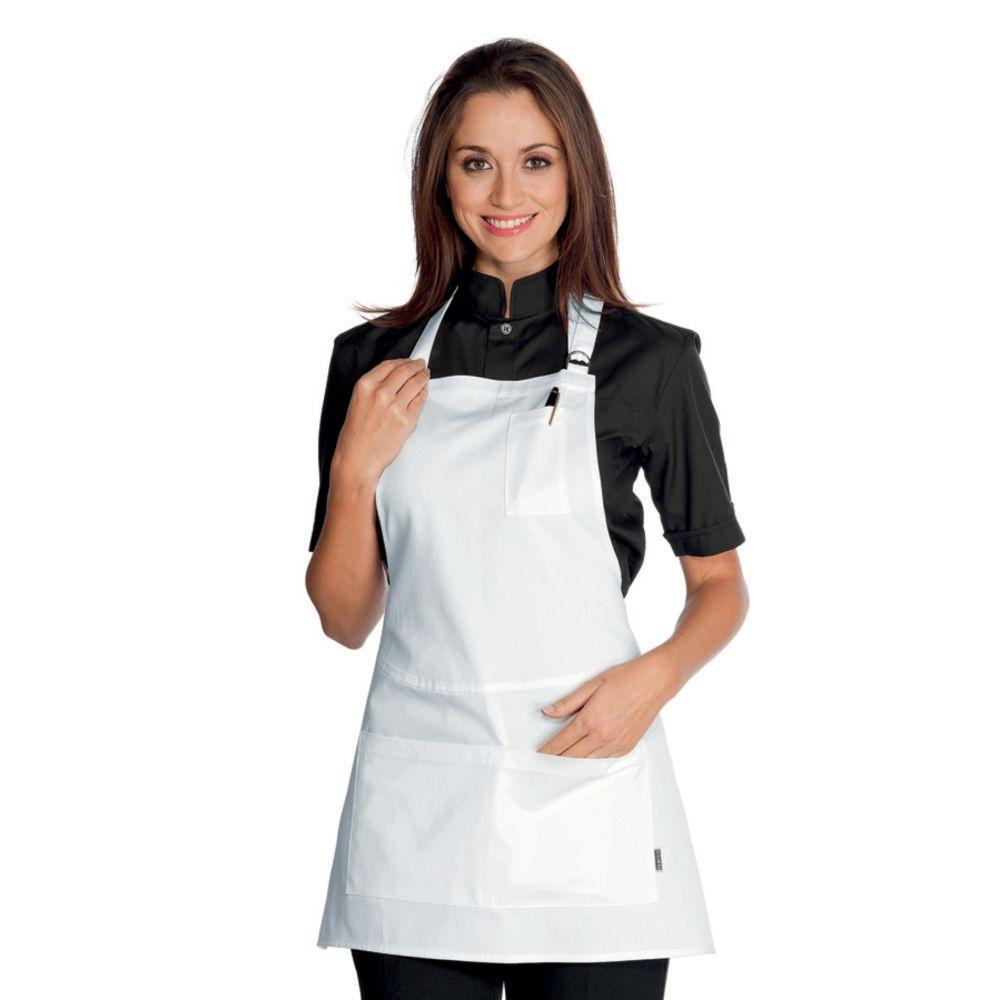 Tablier de service Isacco Piccadilly Blanc 100% coton - Blanc