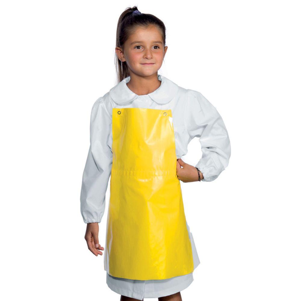 Tablier enfant imperméable Isacco jaune - Jaune