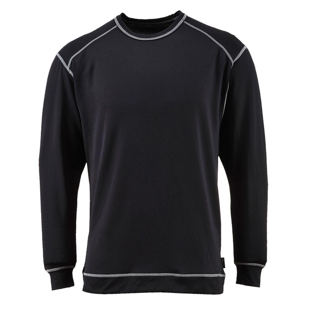 Tee-shirt de travail manches longues  base pro antibactérien Portwest baselayer - Noir
