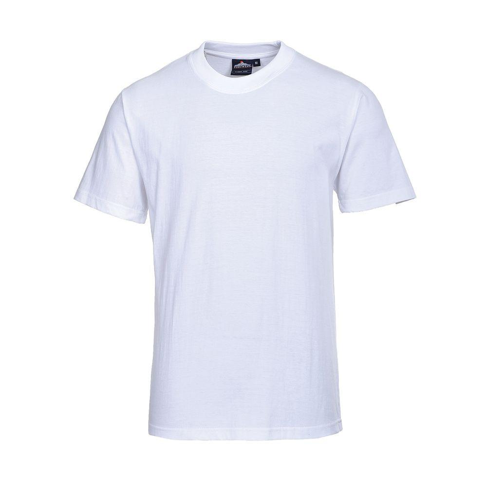 Tee shirt de travail Portwest Turin 100% coton - Blanc