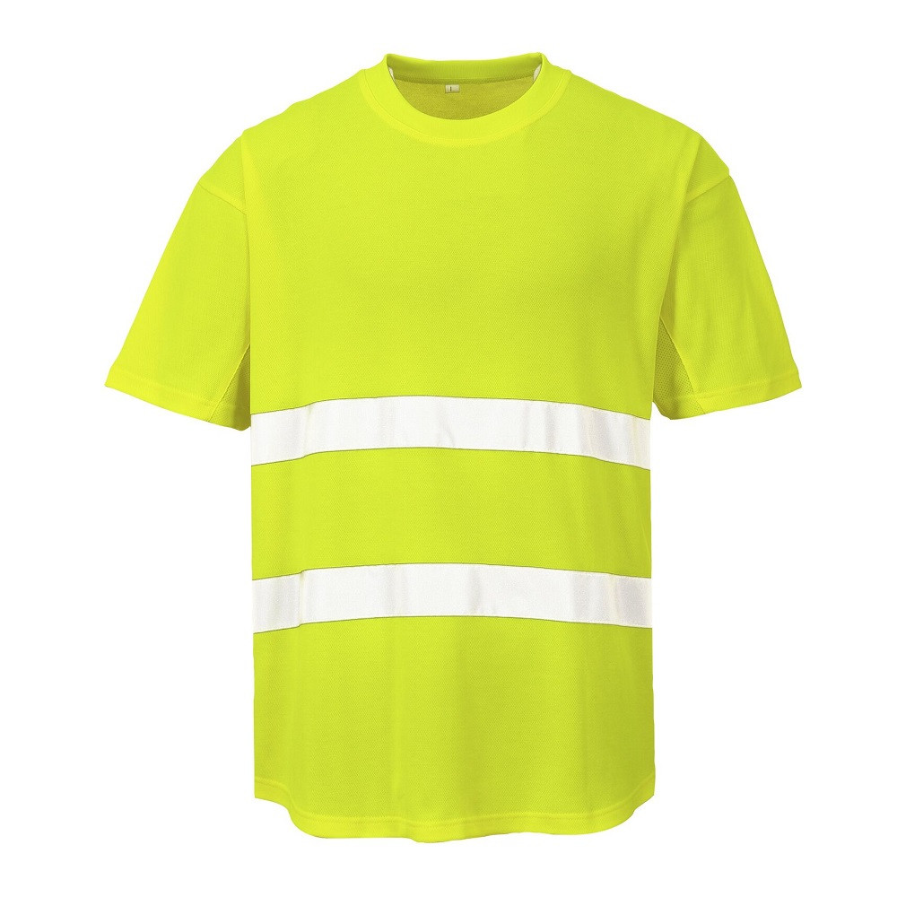 Tee shirt Haute Visibilité Portwest Aéré - Jaune
