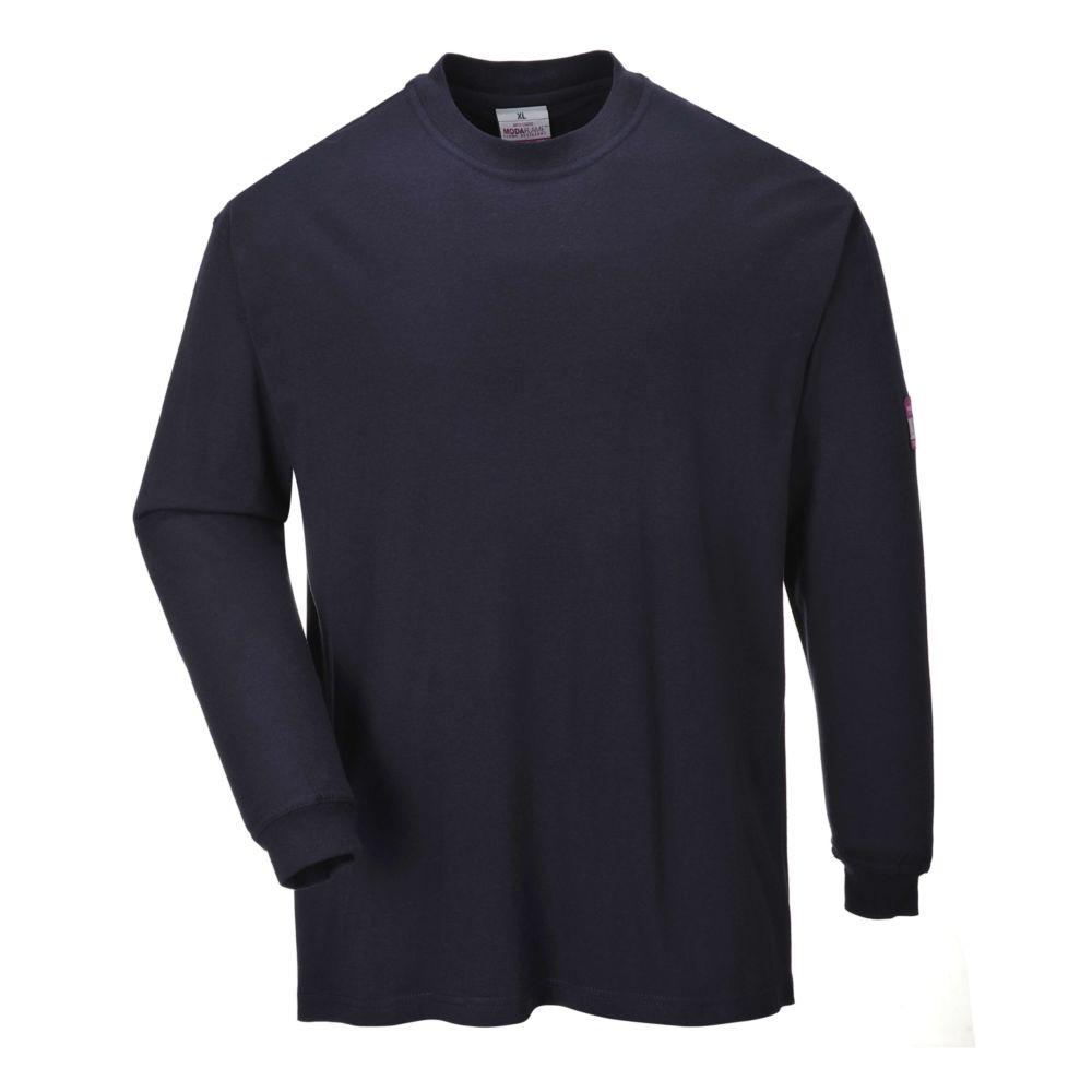 Tee shirt manches longues retardateur de flamme antistatique Portwest - Marine