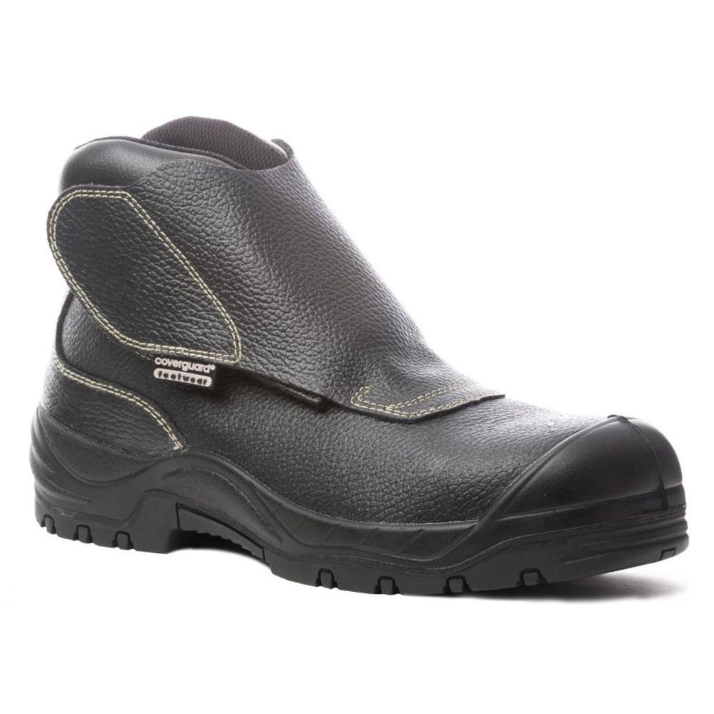 Chaussure de sécurité montante soudeur Coverguard Quadrufite S3 HRO SRA - Noir