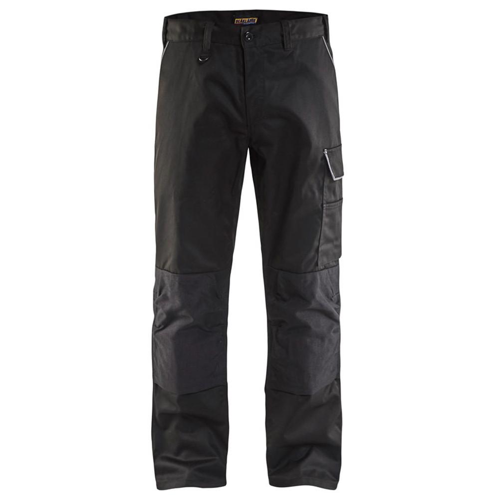 Pantalon de travail à genouillères polycoton Blaklader services - Noir / Gris