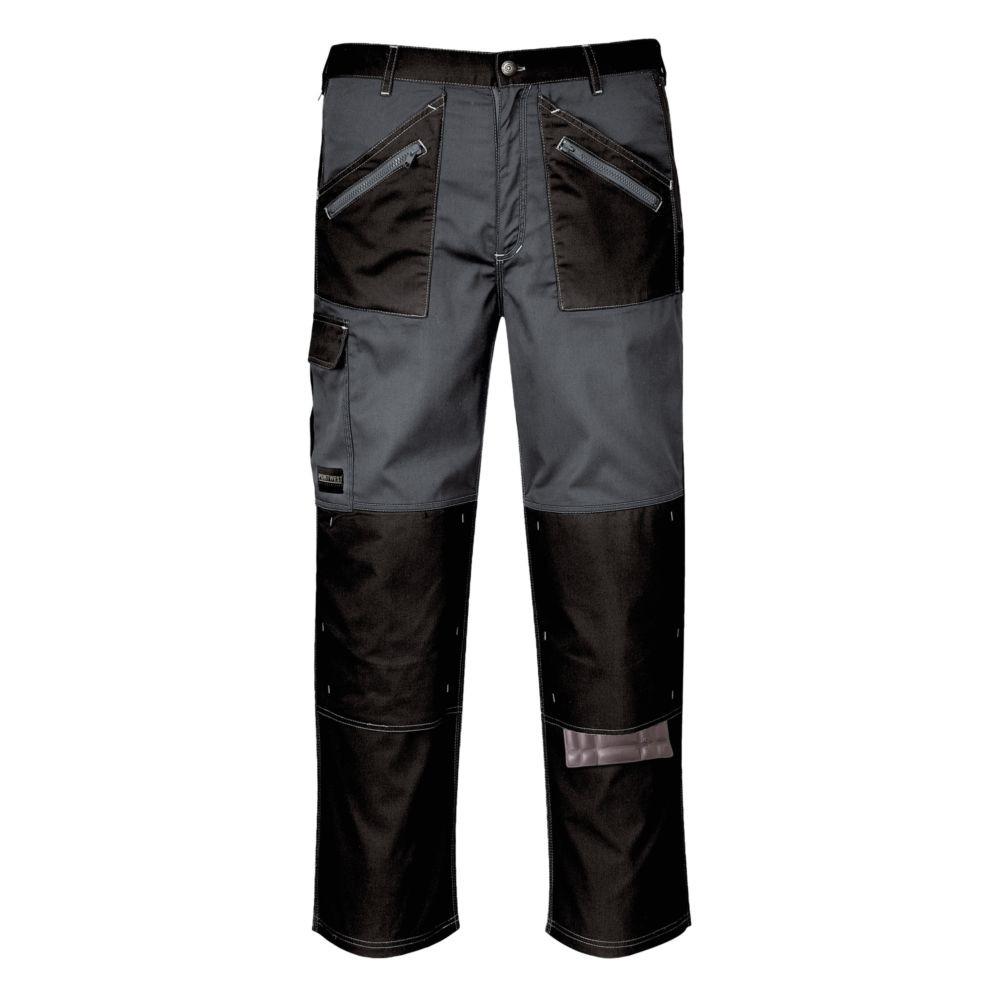 Pantalon de travail multipoches Portwest Chrome - Noir / Gris
