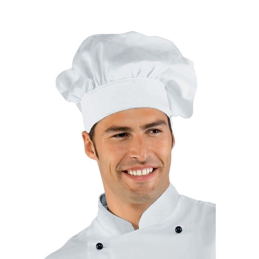 Toque Cuisine Isacco réglable - Blanc