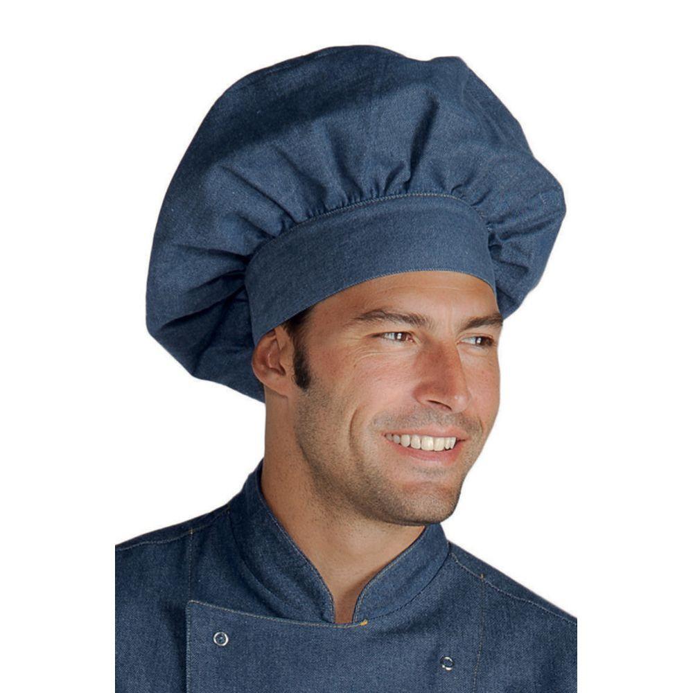 Toque de cuisine Jeans Isacco réglable - Bleu Jean