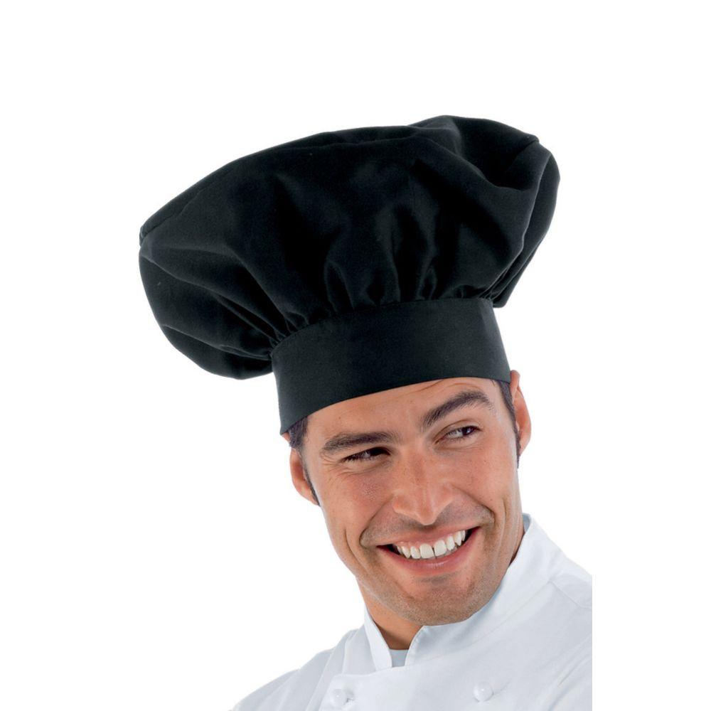 Toque de cuisine noire Isacco Chef - Noir