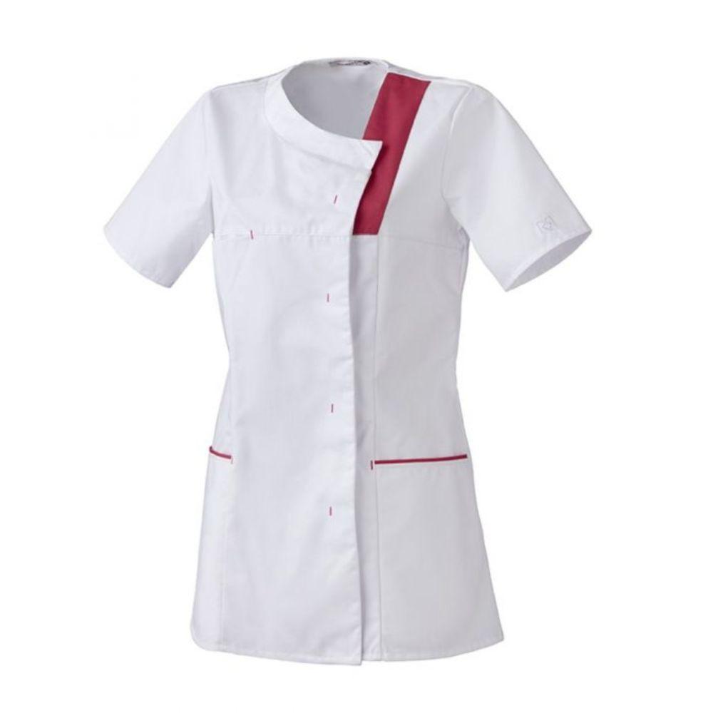 Tunique Médical / Bien Etre Femme Robur LISA - Blanc / Rose fuchsia