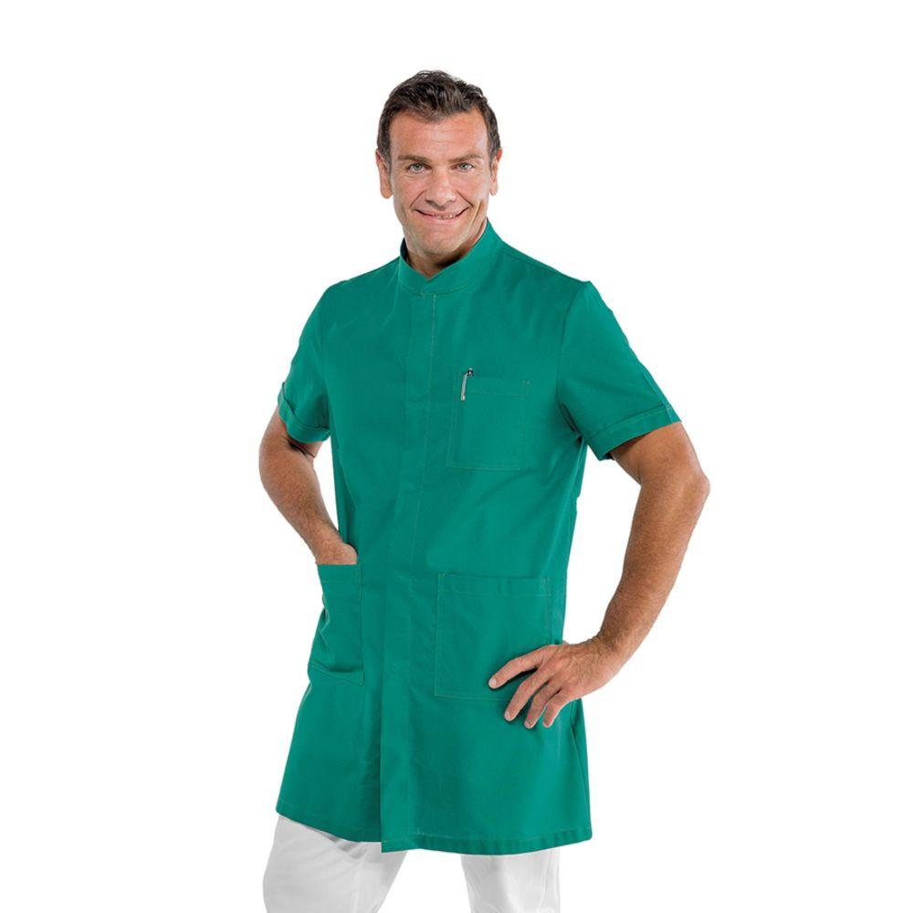 Blouse médicale homme Isacco Dover verte manches courtes - Vert