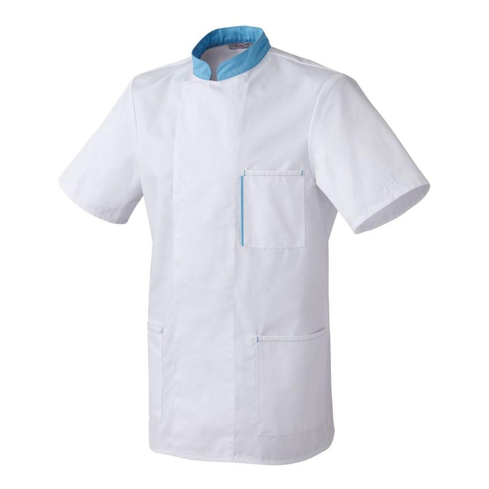 Tunique Médical / Bien Etre manches courtes mixte Robur MACARON - Blanc / Bleu