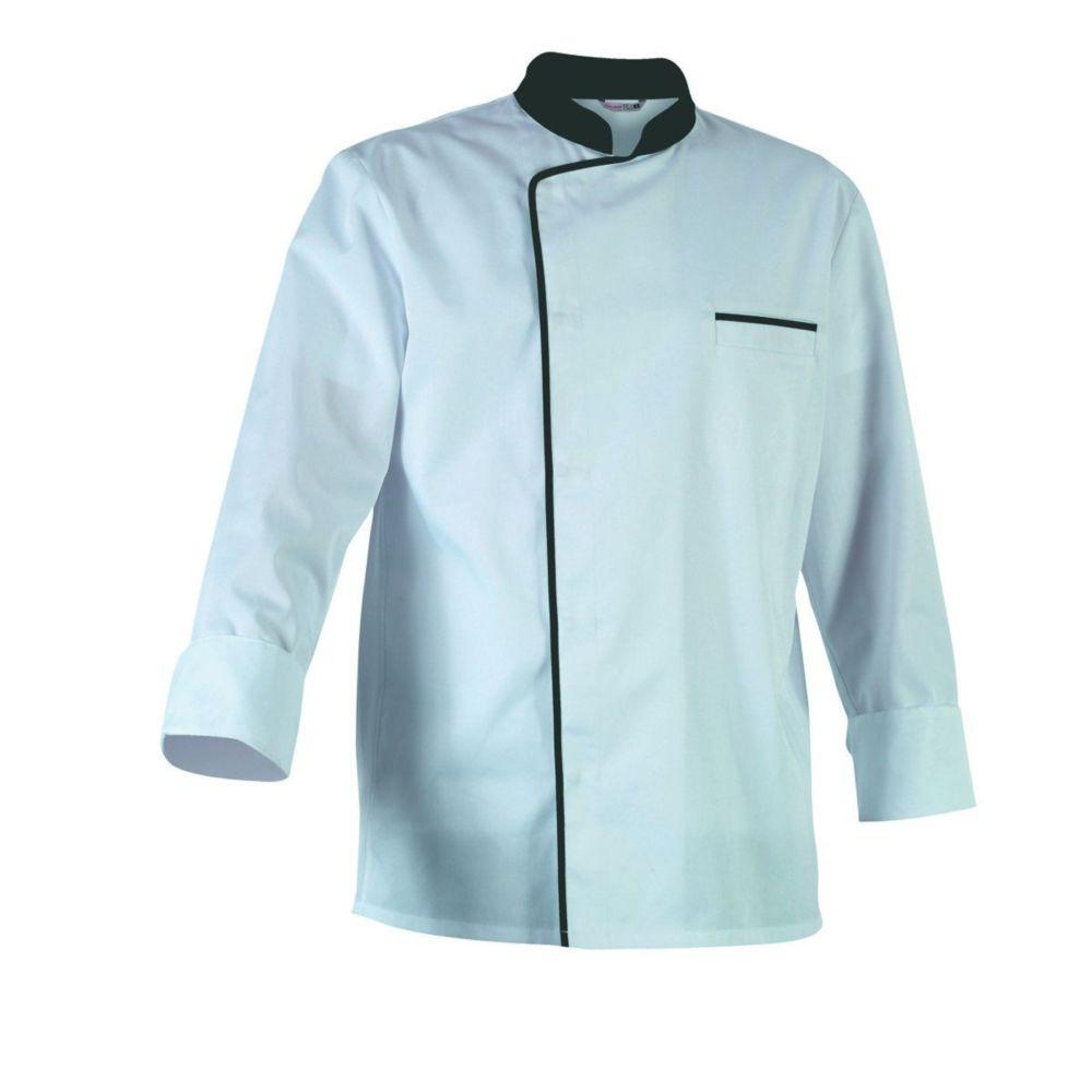 Veste de cuisine manches longues Robur ENERGYML - Blanc / Gris