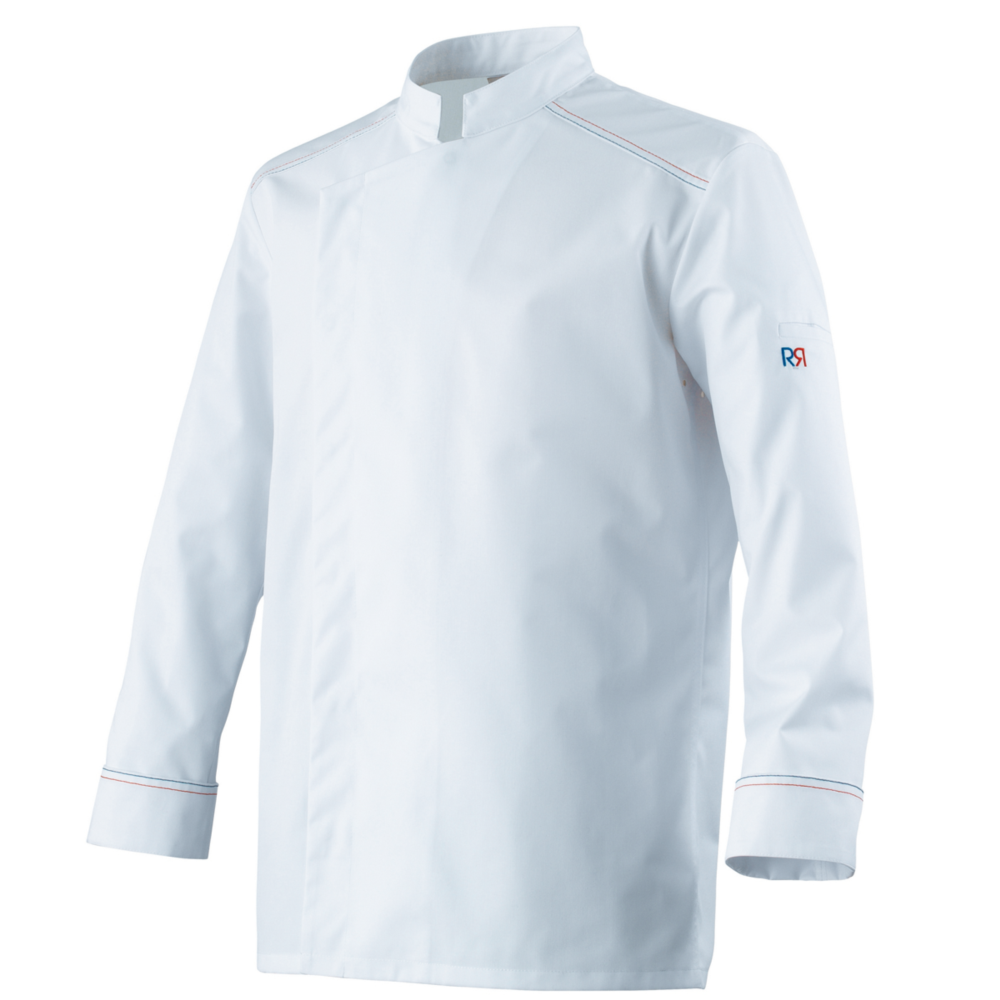 Veste de cuisine homme manches longues Robur ASPIN - Blanc