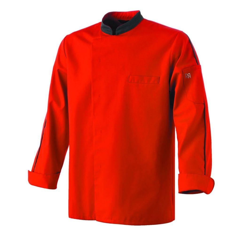 Veste de cuisine manches longue Robur ORAGE - Rouge