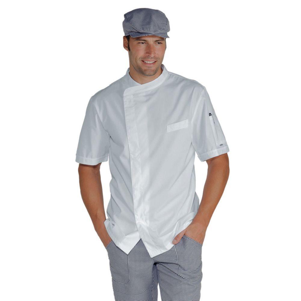 Veste de cuisine blanche Ultra Légère Isacco Pretoria Extra Light - Blanc
