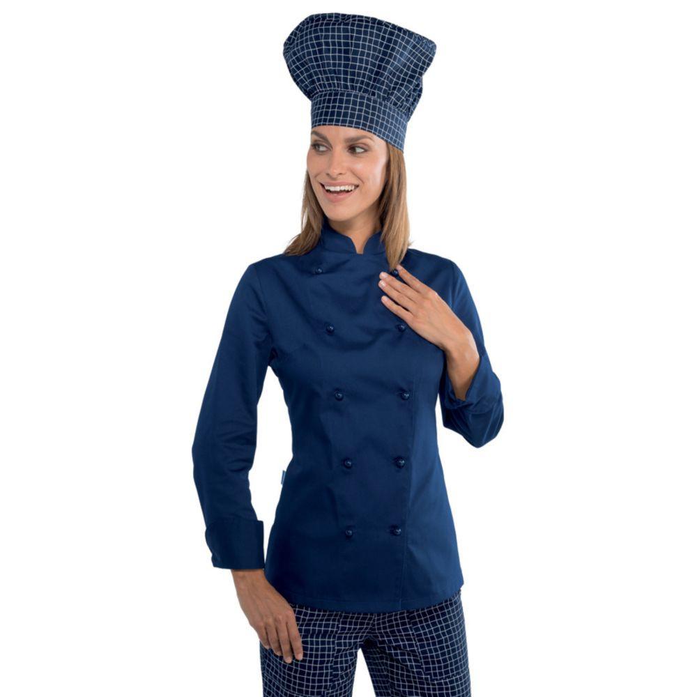 Veste de cuisine femme Isacco Bleue Lady Chef - Bleu
