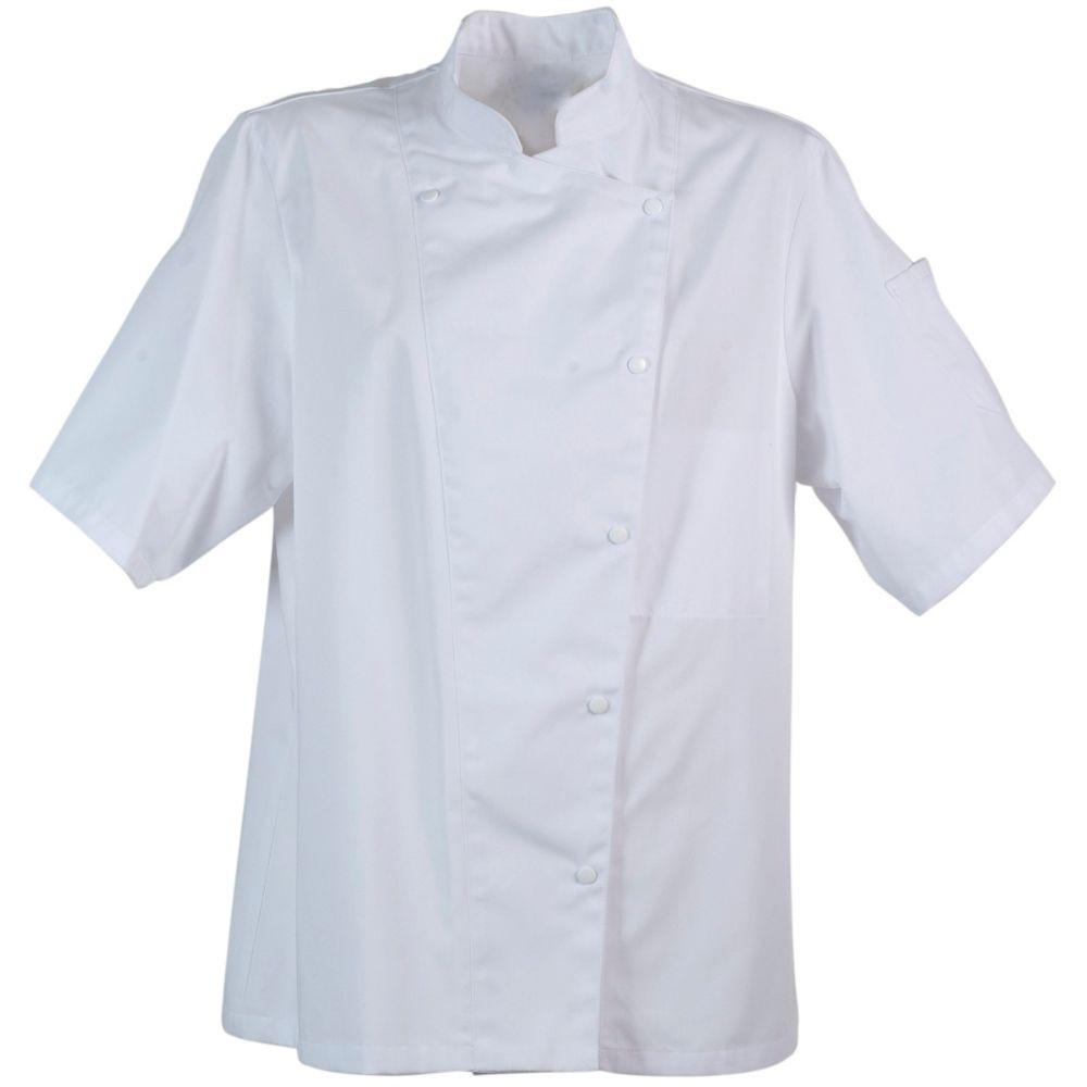 Veste de cuisine femme manches courtes Robur Manille - Blanc