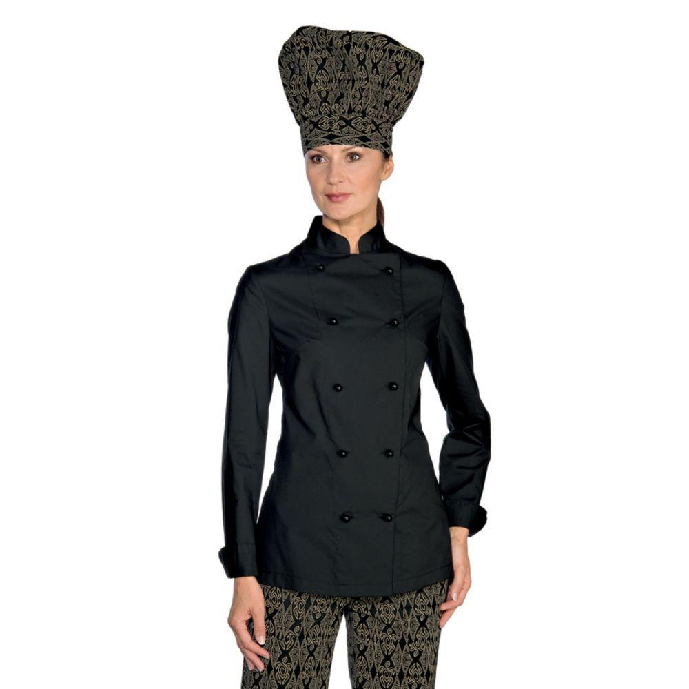 Veste de cuisine femme Ultra Légère noire Isacco Extra Light - Noir