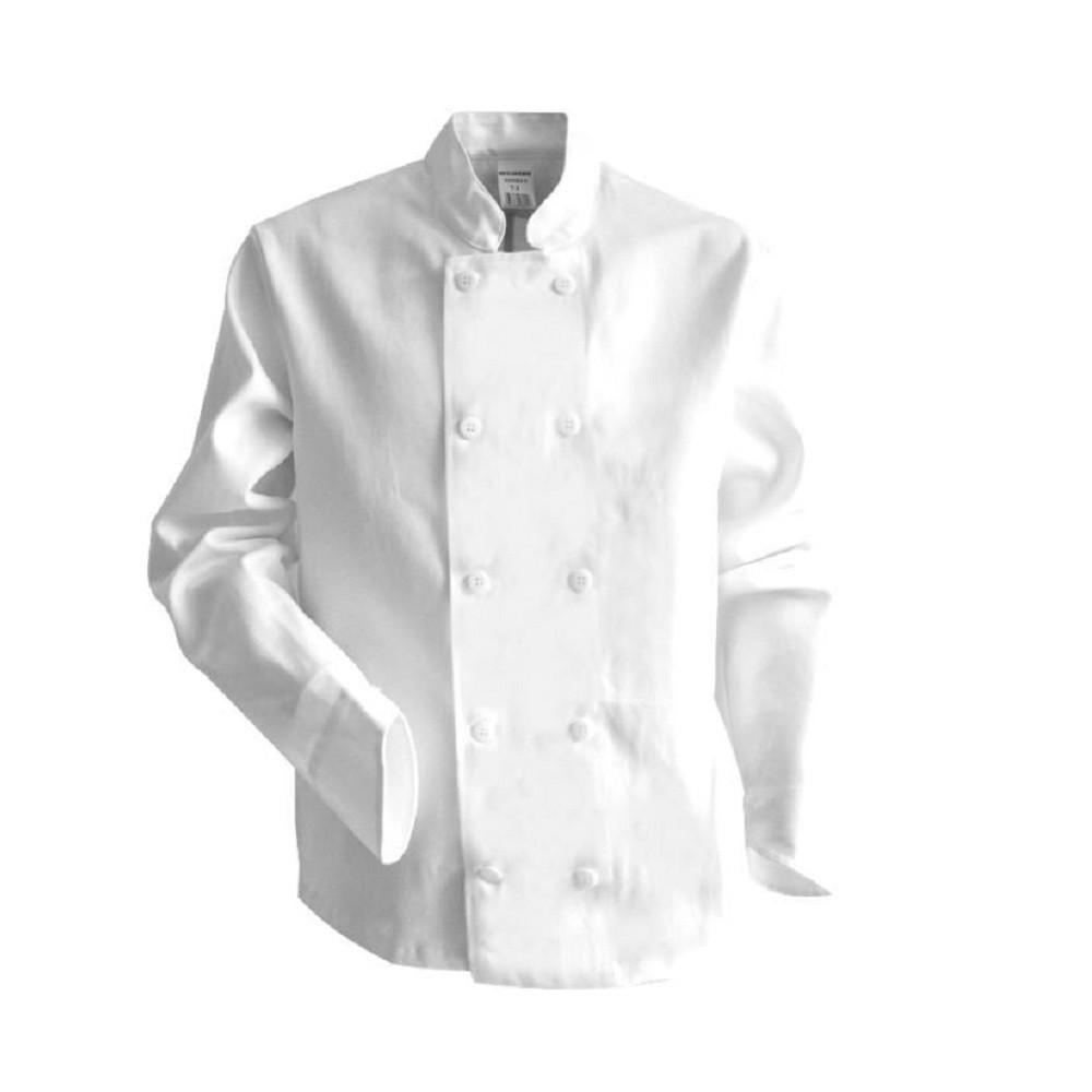Veste de cuisine manches longues LMA POISSON - Blanc