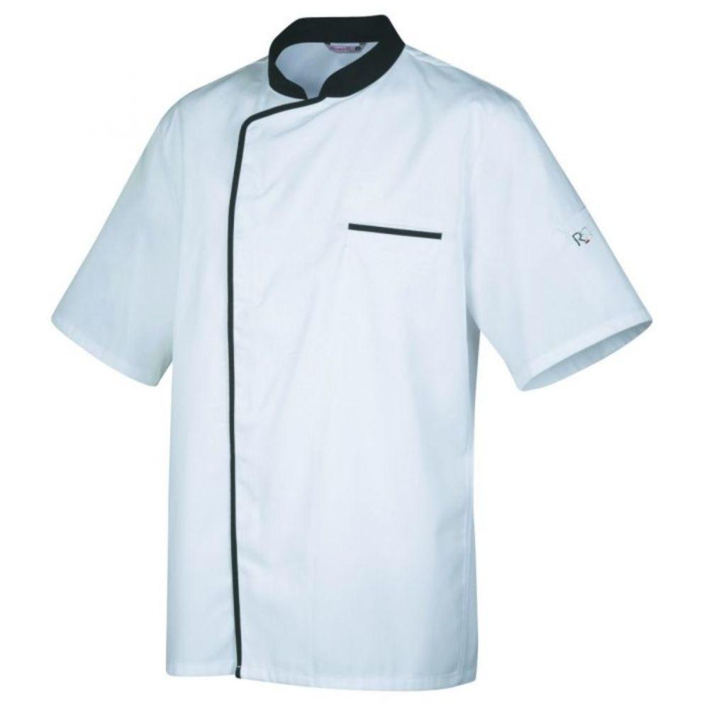 Veste de cuisine manches courtes Robur ENERGY - Blanc / Noir