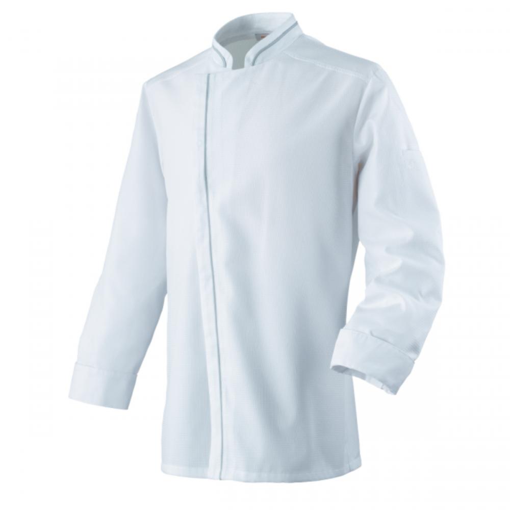 Veste de cuisine respirante manches longues Robur AGUILA - Blanc / Gris