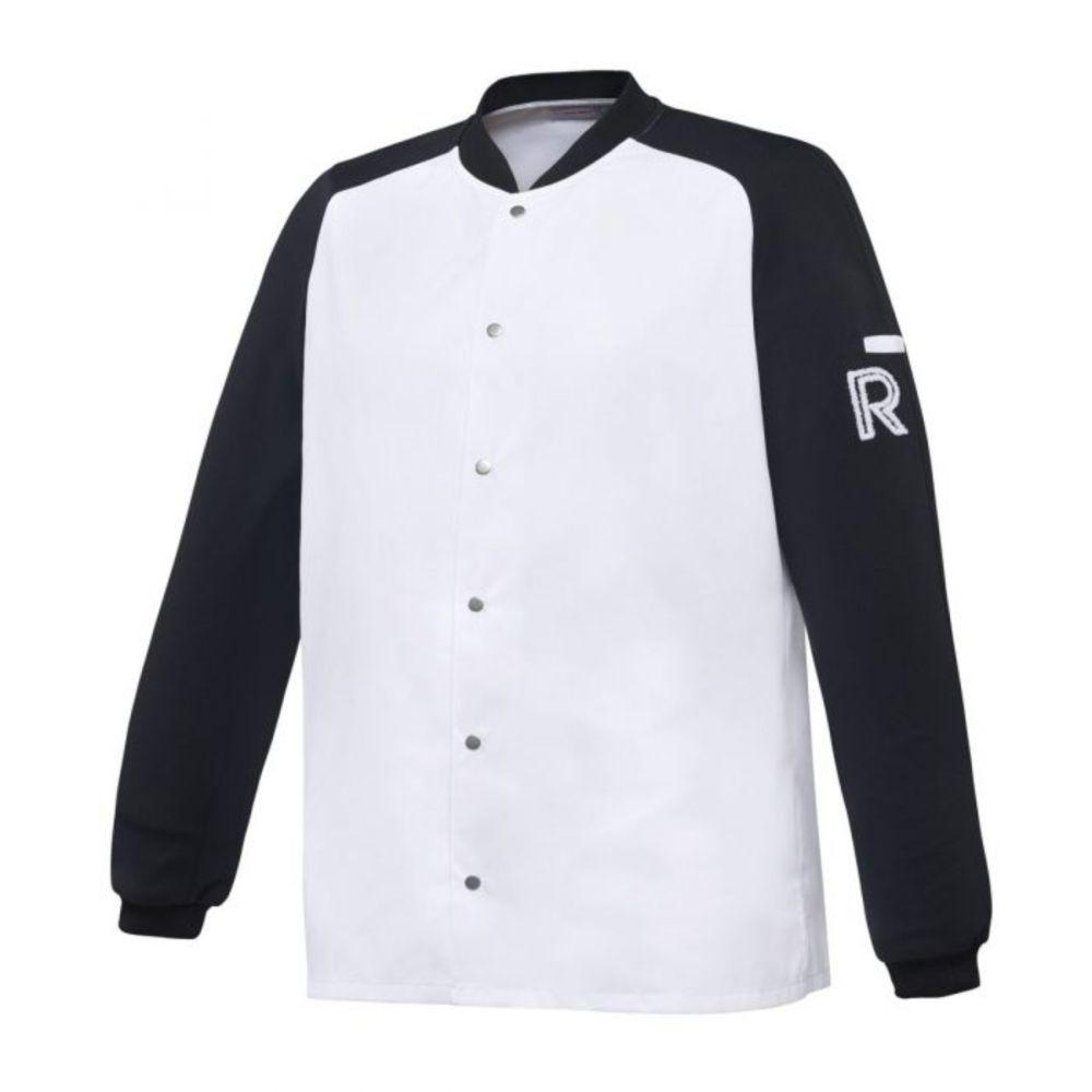 Veste de cuisine manches longues Robur VINTAGE - Blanc / Noir