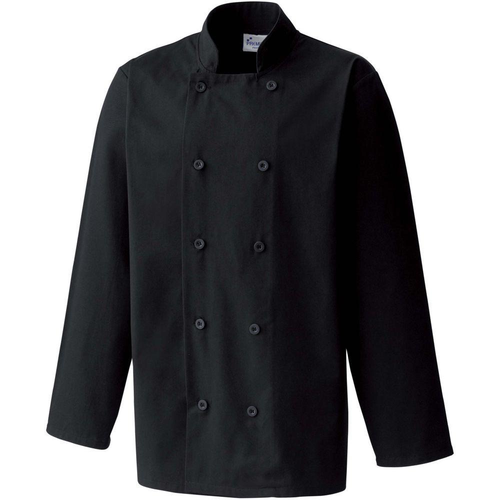 Veste de cuisine manches longues Unisexe Premier noir