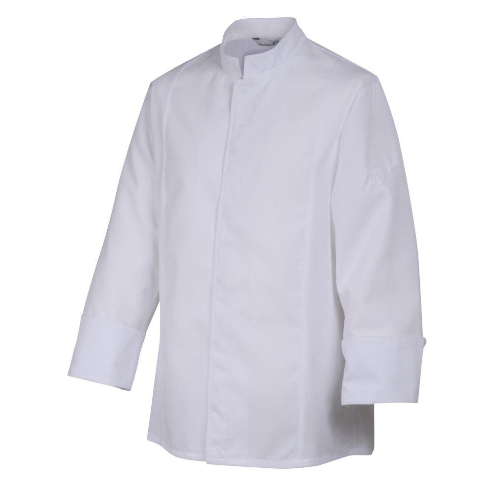 Veste de cuisine mixte col éponge manches longues Robur Siaka - Blanc