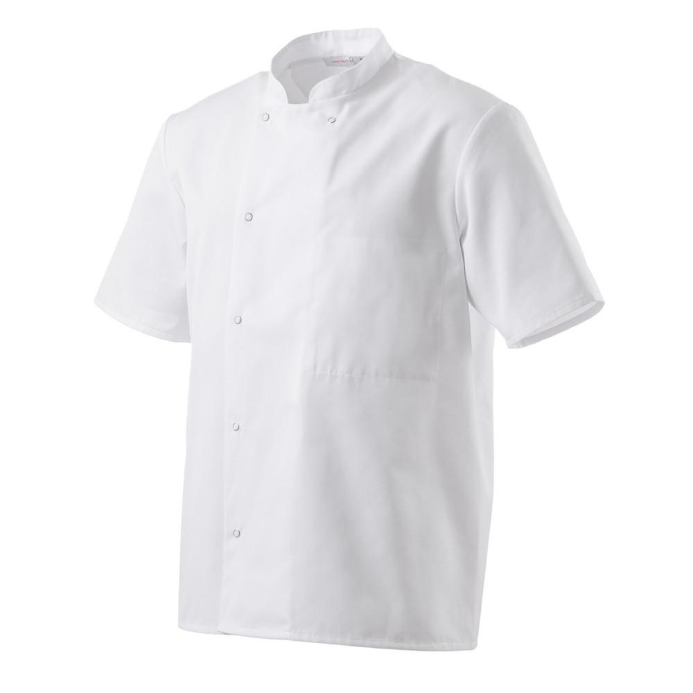 Veste de cuisine mixte manches courtes Robur Inox - Blanc