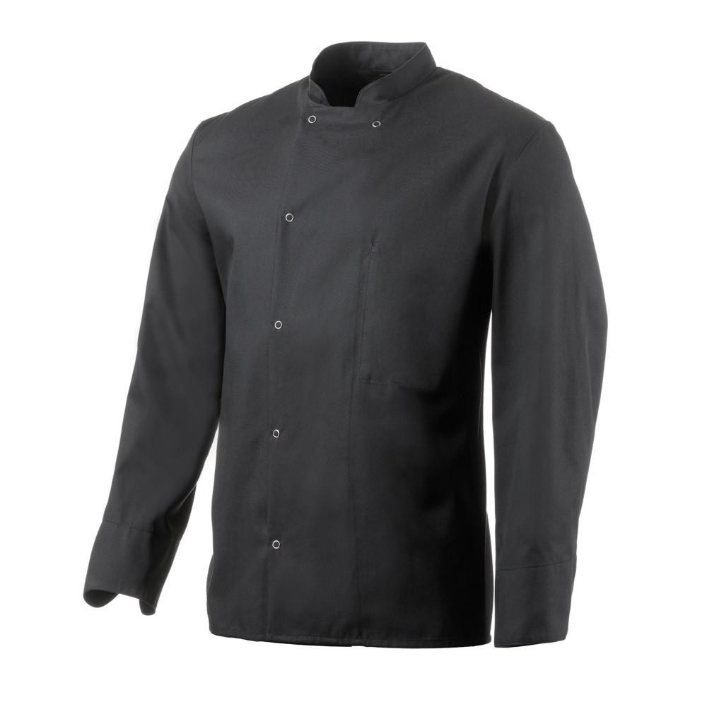 Veste de cuisine mixte manches longues Robur Inox - Noir