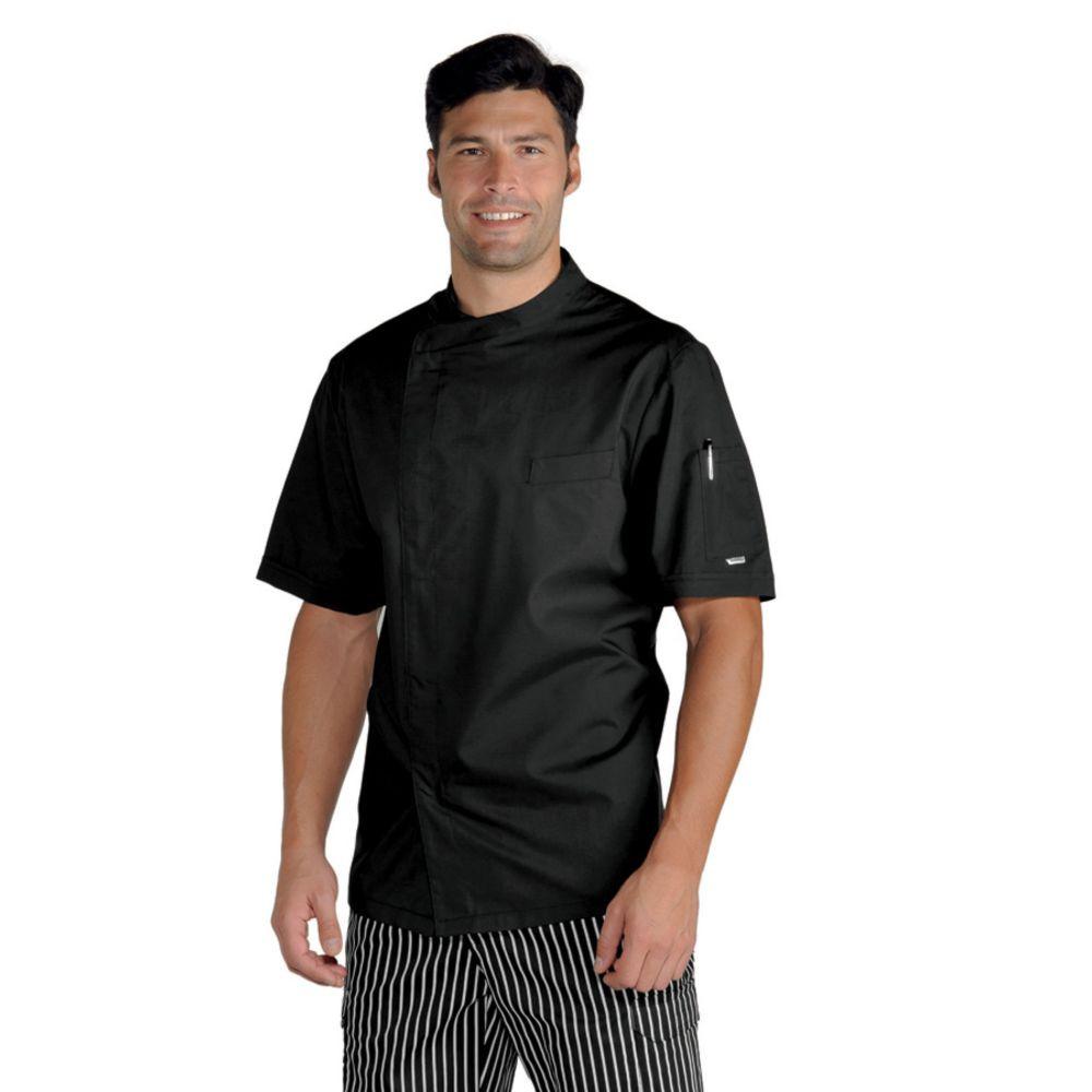Veste de cuisine noire Ultra Légère Isacco Pretoria Extra Light - Noir